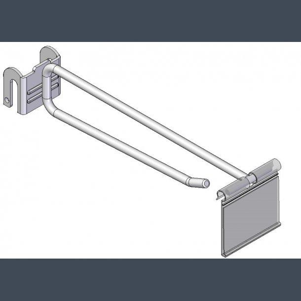 Varekrog Enkeltkrog 6mm skinne prisskilteholder