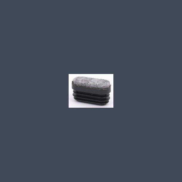 Prop fladoval med filt