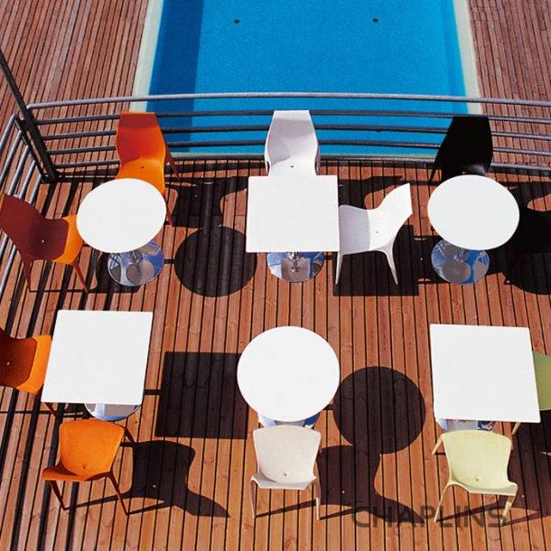 Werzalitbordplade hvid Ø 60cm og 60 x 60cm