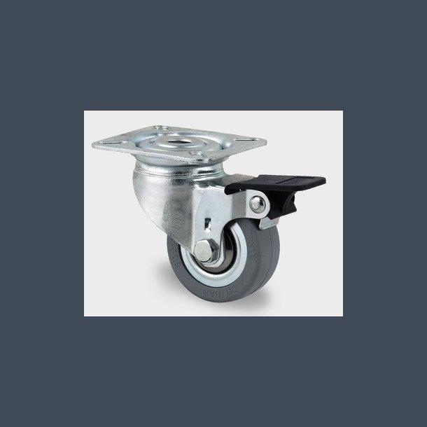 Stålhjul med/uden bremse